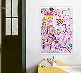 Póster gigante de Omy para colorear – Lily The Unicorn – Horas de juego creativo (40' x 28')