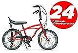 Ape Rider Damenfahrrad Herrenfahrrad - 20' Comfort Fahrrad 7 Gang Fahrräder - Empfohlene Höhe 140-170 cm (Rot)