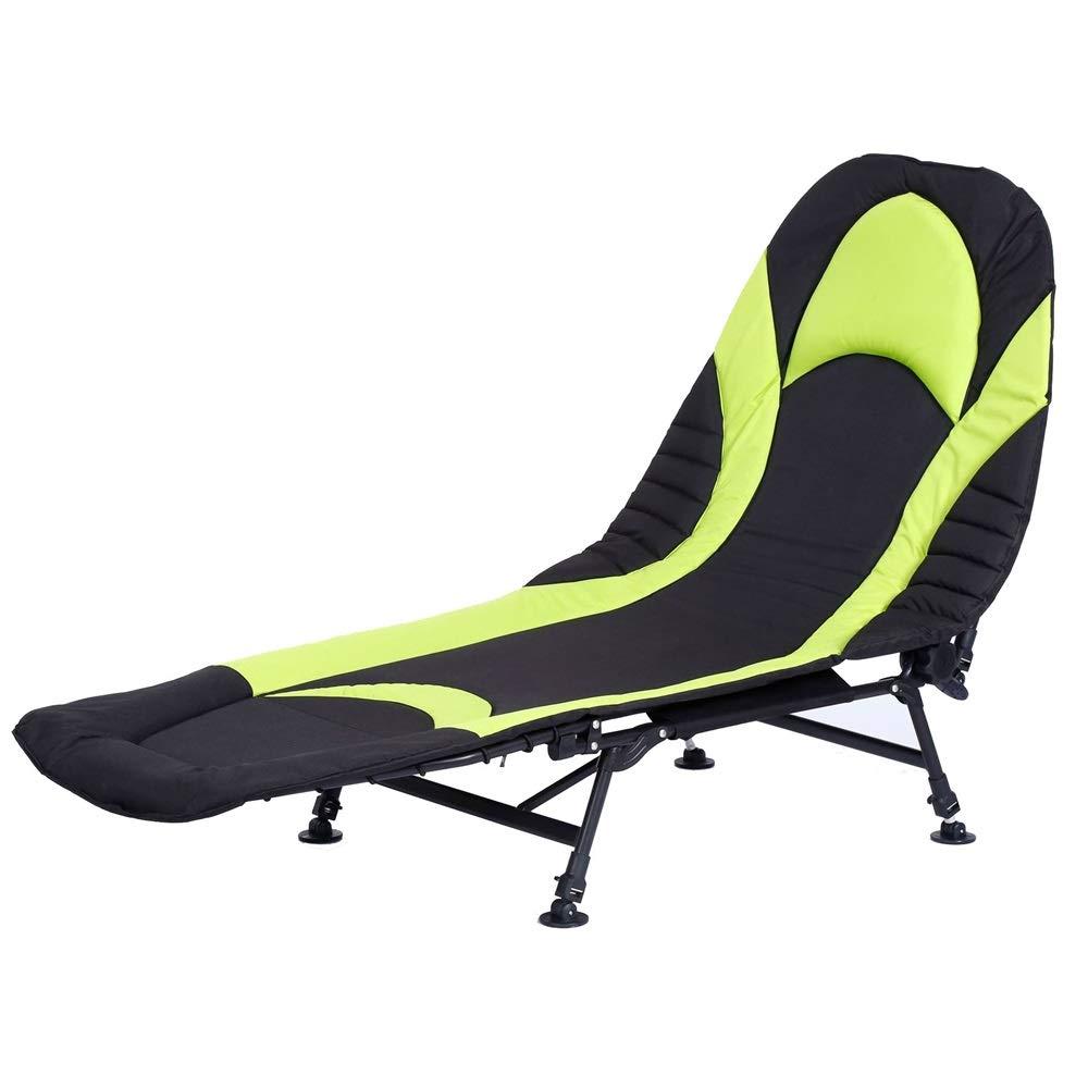 Ryyland-Home Cama Plegable Reclinable sillón Cama Bedchair Pesca de la Carpa Camping 6 Pierna de Visitantes Cama reclinable (Color : Black, Size : 190 * 72 * 40cm): Amazon.es: Hogar