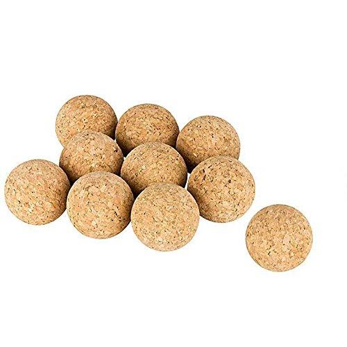Kork-Deko Conjunto de 10 Bolas de Corcho (Bolas de Kicker de Corcho), Corcho Natural, diámetro = 3,5 cm | Naturales, Muy silenciosas (futbolín, Bola de Kicker, Bolas para futbolines, 10 Piezas)