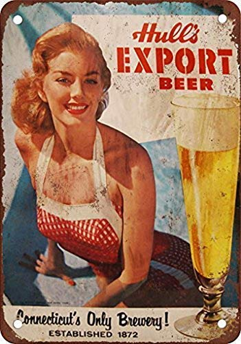 Metalen bord 8x12 inch Hull's Export Bier