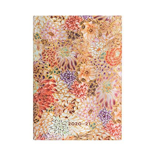 Paperblanks 18-Monatskalender 2020-2021 Kikka | Horizontal | Midi (130 × 180 mm)