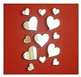 Spiegel-Aufkleber in Herzform, zum Basteln und Scrapbooking, Acryl-Herzen, 50 Stück