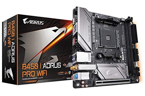 Gigabyte Mainboards B450 I Aorus Pro Wi-Fi Motherboard, schwarz