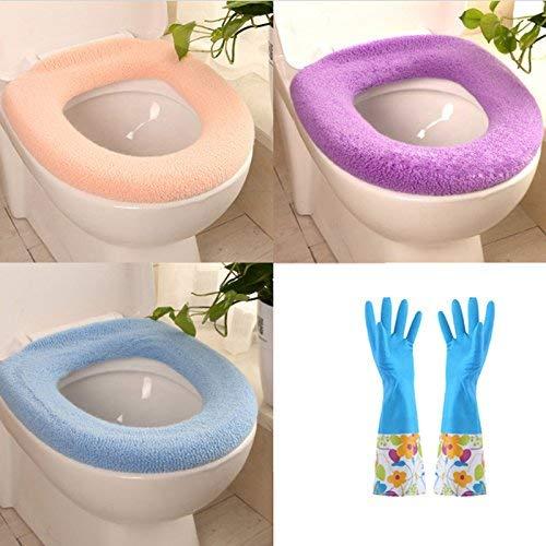 Kristallly Seat Kussens Zachte Wc-bril Gemakkelijk te reinigen Ronde Blauwe Eenvoudige Stijl (Kleur Een Pack) Home Ornament Mode Party Eenvoud Stoel Kruk Beschermers