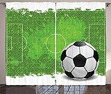 ABAKUHAUS Fútbol Cortinas, Diseño del fútbol de Grunge, Sala de Estar...