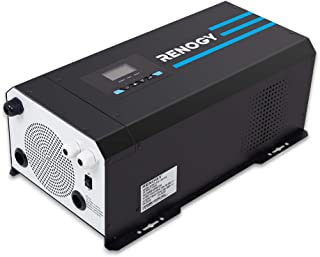 Renogy PCL1-30111S 3000 Watt 12V DC to 120V AC Pure Sine Wave Inverter Charger w/LCD Display, Lithium Battery Compatibilit...