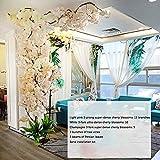 PDXGZ Árbol Artificial de la Flor de Cerezo, Flor de Cerezo Falso, Árbol de melocotón Artificial Simulación Madera Maciza Cerezo Gran árbol de Deseos Centro Comercial Decoración Colocada