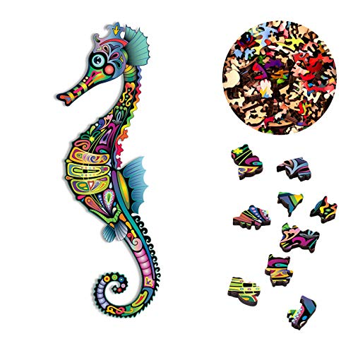 Holzpuzzle - Einzigartige Form Tier Puzzleteile Erwachsene Und Kinder Verführerischer Tierwelt Jigsaw Puzzle, 3D Buntes Puzzles Spielzeug Geschenk Home Decor Puzzle schenk Für Kinder