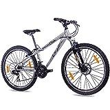 Unbekannt 'Rueda de 26MTB Dirt Bike Bicicleta de montaña bicicleta KCP Dirt One con 21g Shimano gris