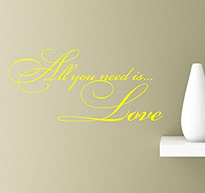 #2 All you need is...love wall quotes sayings vinyl decals art