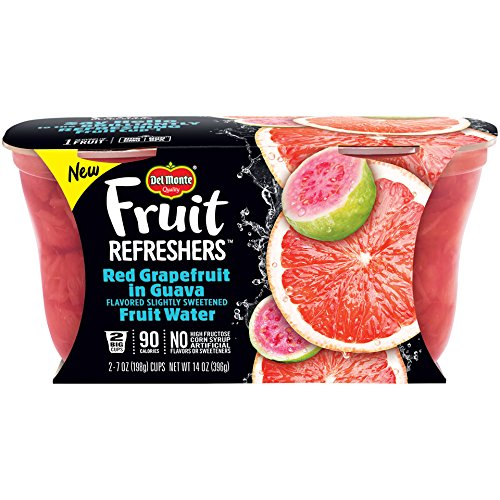 Del Monte Fruit Refreshers Snack Cups, Red Grapefruit in Guava Fruit Water, 7-Ounce Cups, 6-Pack of 2-Count Boxes (12 Cups Total)