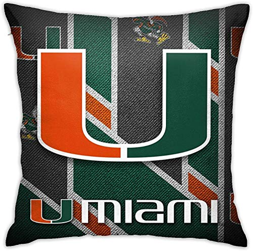 Pillows for Women 22'x22' Miami Hurricanes Pillows Coverss...