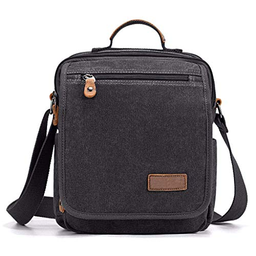 XYZMDJ zwart zakje, zeildoek-casual zak, business mode messenger bag, laptop messenger bag business office tas voor mannen
