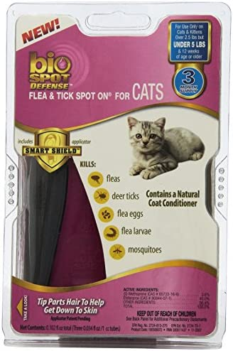 BioSpot Active Care Spot On with Applicator for Cats under 5 lbs 3 Month Supply product image