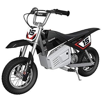 Razor MX400 Dirt Rocket Kids Ride On 24V Electric Toy Motocross Motorcycle Dirt Bike, Speeds up to 14 MPH, Black