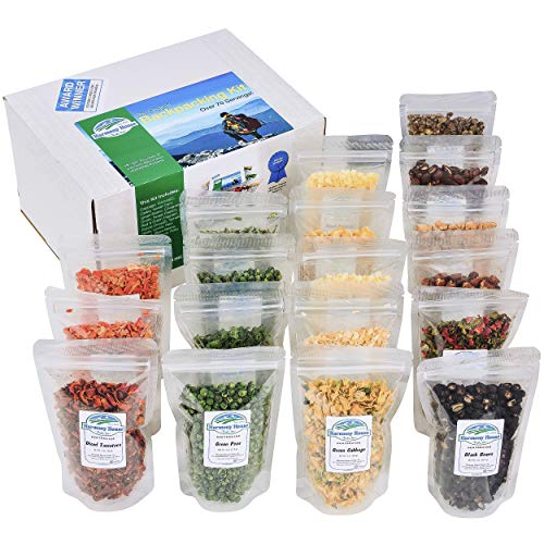 The Backpacking Kit - 18Ct Premium Lightweight Meals in 1 Cup Resealable Pouches by Harmony House Foods, Single Set