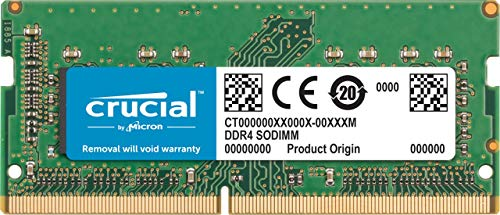 Crucial CT8G4S266M - Memoria para Mac de 8GB (DDR4, 2666 MT/s, PC4-21300, CL19, Single Rank x8, SODIMM, 260-Pines)