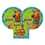 Scooby Doo Party Paper Plates and Paper Napkins, 16 Servings, Bundle-...