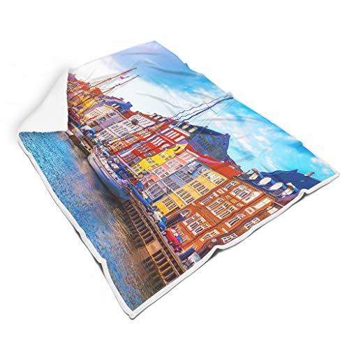 LIFOOST Manta de ciudad, estándar, cómoda, multifuncional, apta para ver la televisión, para adultos/mujeres/hombres, regalo blanco, 130 x 150 cm