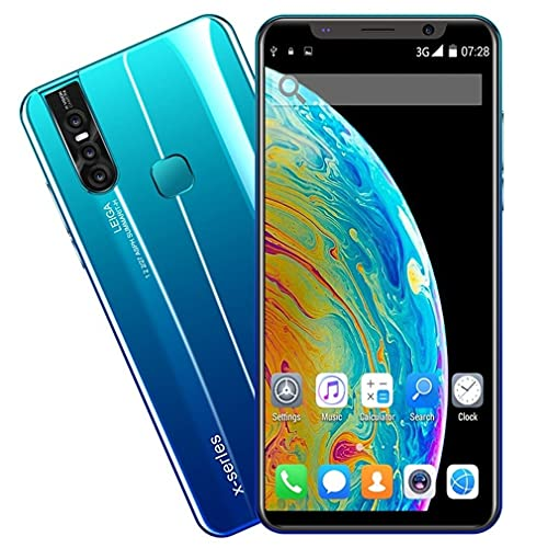 Nsdsb Smartphonex27Plus 5.8 Pulgadas Teléfono Inteligente Pantalla Grande Unicom 3G Teléfono Móvil EU Azul