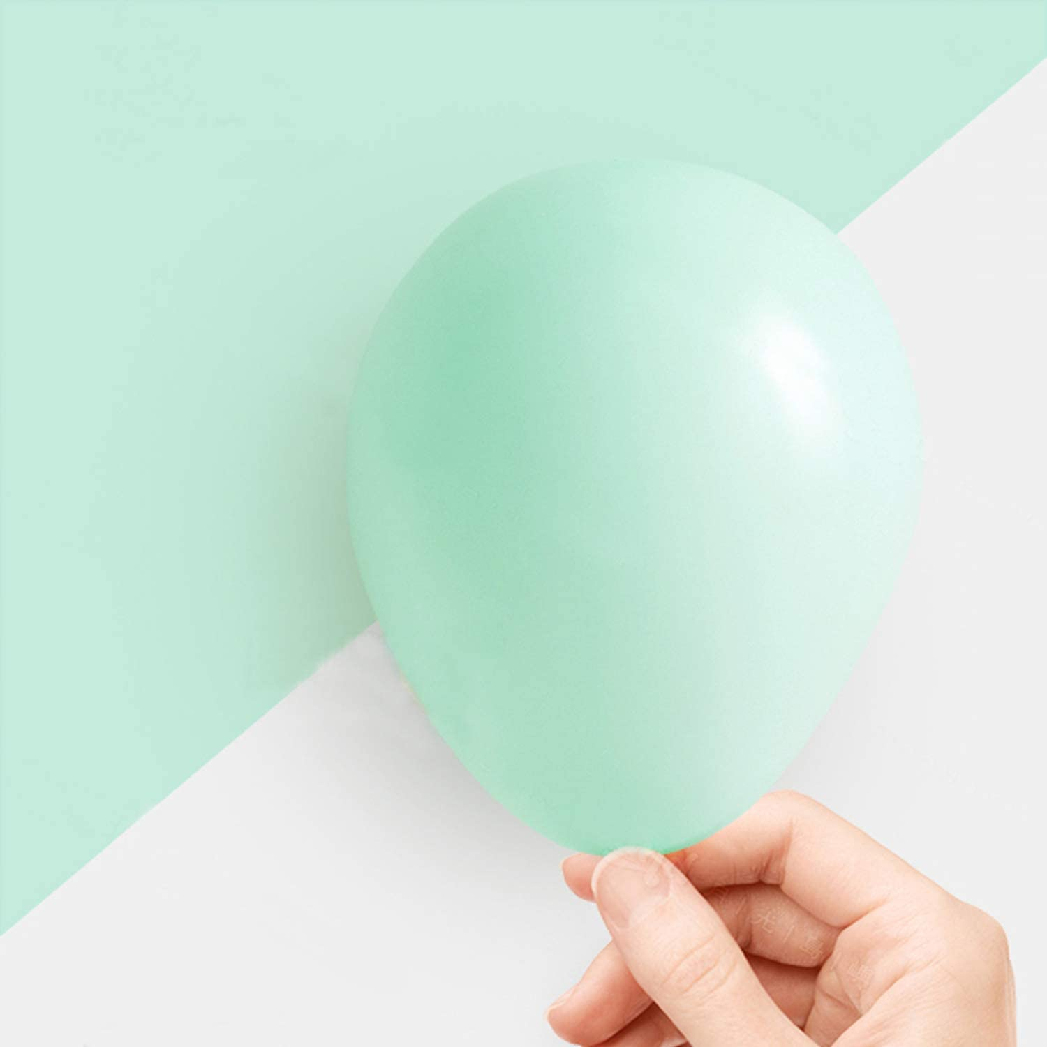Pastel Mint Balloons 5 Inch 50pcs Latex Party Balloons Baby Show