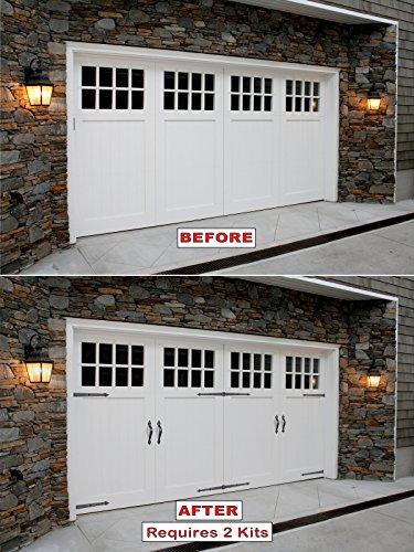 Screw Mounted Decorative Carriage House Garage Door Hardware Kit