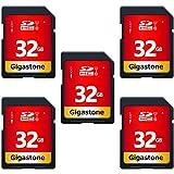Gigastone 32GB SDカード UHS-I U1 Class 10 SDHC メモリーカード 高速 フルHD ビデオ デジタルカメラ SD card Full HD