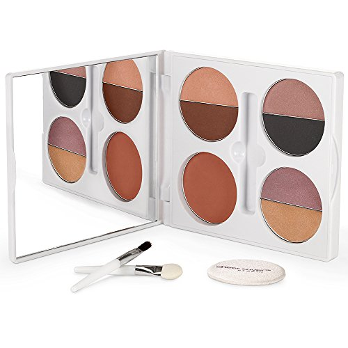 Sheer Cover  Sophisticate Look Face Palette For Eyes, Lips, and Cheeks  with Brush