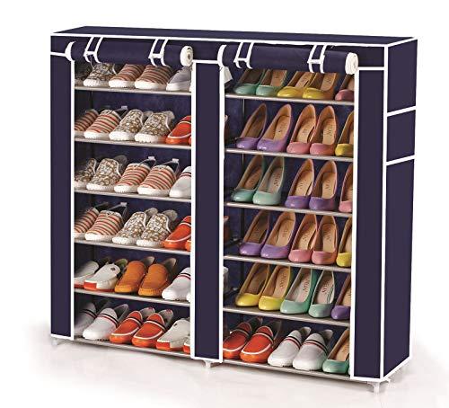 Vinsani - Estantería organizadora para zapatos (2 unidades, 6 niveles, 36 pares), color azul