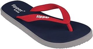 fipper Wide Men's Thongs, ArmyGreen/Grey/Darkbrown