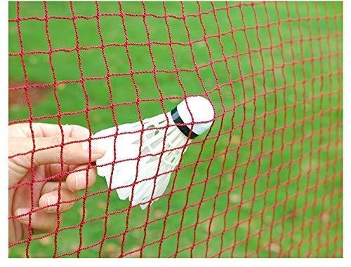 IPENNY Badminton Netz Tragbares Volleyball- Net Tennis- Netz Polypropylen Badminton-Wettkampfnetz Faltbares Federballnetz Outdoor Trainingsnetz 610 * 76cm Weißer Rand
