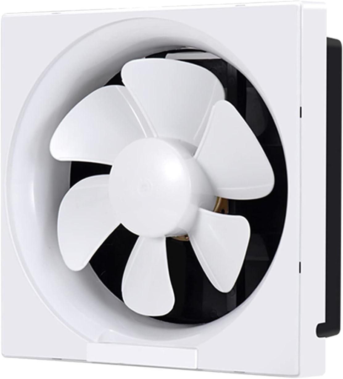 zlw-shop Ventilador de Escape de la Cocina Ventilador de ventilación para el hogar con persianas e Interruptor de línea 10 Pulgadas Bathroom Fan de Escape Tipo de Ventana Potente, 4 0W, 99CFM