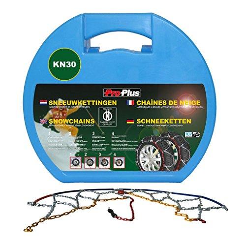 Proplus 2x Schneeketten für Autoreifen 12 mm KN30