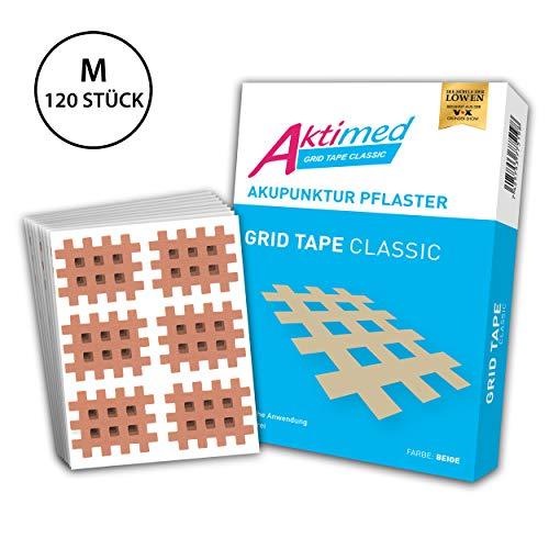 AKTIMED Grid Tape CLASSIC - Crosstape Gitterpflaster zur universellen Anwendung - Akupunkturpflaster Gitter dermatologisch getestet - Gittertape zum Kleben von Schmerz- und Triggerpunkten