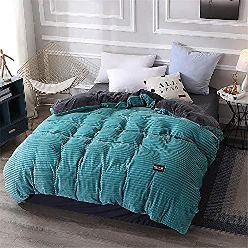 Fulinmen Double Size Duvet,100% Cotton Down Duvet Winter Warm Velvet Quilt Cover-Detachable -5150 * 200Cm-3.7Kg