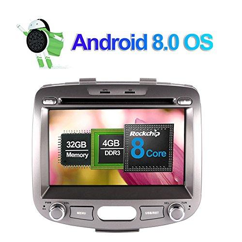 7 pollici Octa Core 4G+32G 2 Din In Dash Autoradio Lettore DVD Navigatore GPS con schermo touch screen bluetooth vivavoce per Hyundai I10 2007-2013 supporto 3G 4G Wifi DAB+ Ingresso telecamera