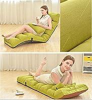 無地の怠zyなソファ、ソフトで厚手の折りたたみ式折りたたみクッション、調節可能な快適な寝椅子バック