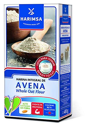 """Harina Integral de Avena HARIMSA 400 Gramos """"Lista para tomar"""" Fuente de proteínas. Contiene Beta-glucanos"""