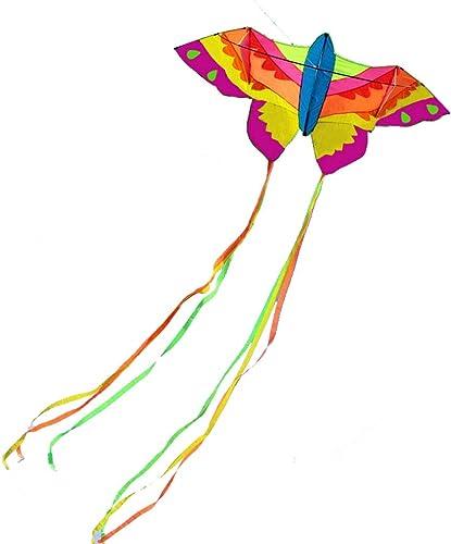 Kinder Schmetterling Kite Einfach zu fliegen Kite Tail 2M Outdoor Lustige Sport Spielzeug Kinder Fliegende Spielzeug (Farbe   rot, Größe   400 Meter line)