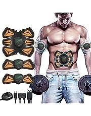 ANLAN EMS spierstimulator buiktrainer ABS trainingsapparaat professionele USB elektrostimulatie elektrische buikspiertrainer fitnessgordel 2 buikpads armpads voor dames heren