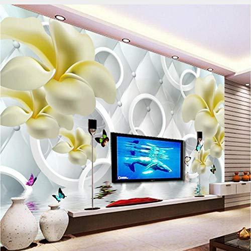 Zjxxm 3D Papier Peint Lily Sac Souple Décoration De La Maison Fond Salon Chambre Tv Papier Peint Pour Murs 3 D Papel De Parede-450cmx300cm
