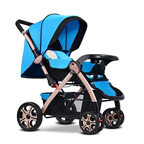 zdw Leichtgewichtiger Kinderwagen mit 5-Punkt-Sicherheitssystem und Multi-Positon-Liegesitz mit verlängertem Baldachin. Einfacher Einhand-Klappkorb, C,D