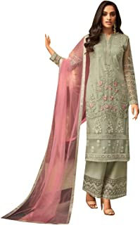 Ready To Wear Party wear Indian Ethnic Pakistani Punjabi Straight Suit Net With embroidery Salwar Kameez Party wear Design...
