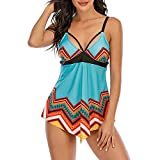FORUU Swimsuits for Women 2021,Plus Size Two Piece Bathing Suit Cute Tankini Set Fashion Beachwear Padded Swimwear Modest Swimwear Tankini Swimsuits with High Waisted Bikini Bottoms Beachwear