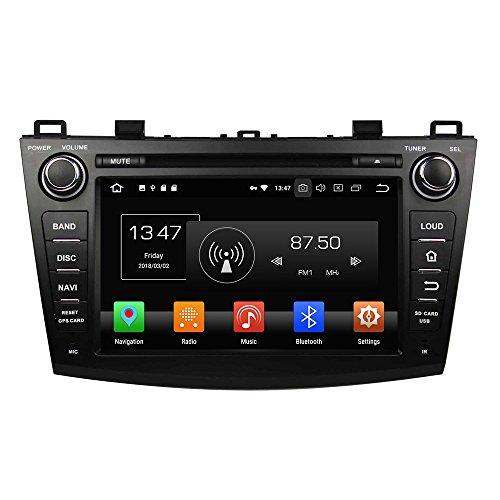 Android 9.0 Octa Core Autoradio Voiture GPS Lecteur Multimédia DVD Radio stéréo pour Mazda 3 2009 2010 2011 2012 soutient Commande au Volant avec 3 G WiFi Bluetooth sans Carte SD 8 G (Libre)
