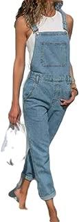 XINHEO Women's Straight Big Pockets Romper Playsuit Jumpsuit Bib Overalls