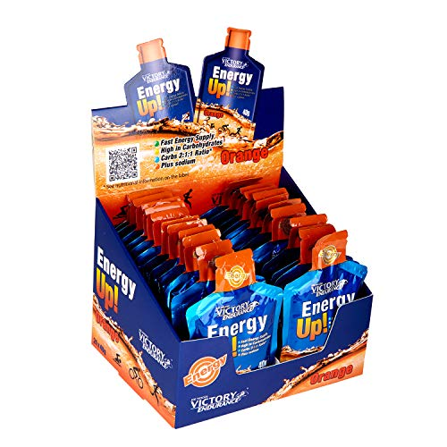 VICTORY ENDURANCE, Energy Up Gel, de Naranja - 960 gr - 24 unidades
