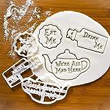 Molde de galletas DIY Set de tres piezas, herramienta de hornear para hacer relieve, molde para galletas con buenos deseos.