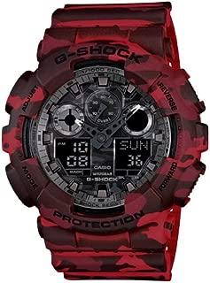 Casio G-Shock GA-100CM-4A XL Camouflage Red Analog Digital Men's Watch